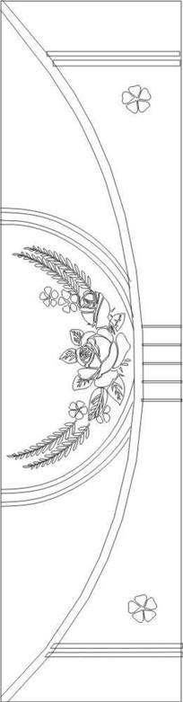 玫瑰雕刻图案