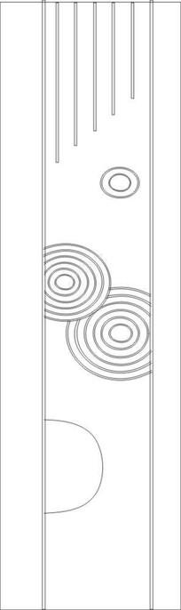 圈纹雕刻图案