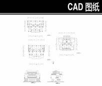 双拼三层别墅建筑平立面图