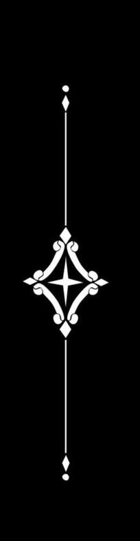 四角星雕刻图案