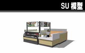 小型寿司售卖亭SU模型