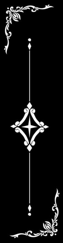 星光雕刻图案