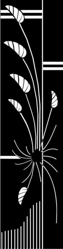 旋花雕刻图案