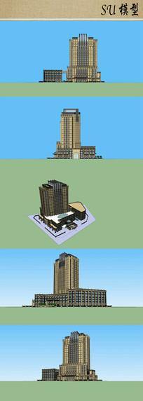 医院建筑设计方案su模型
