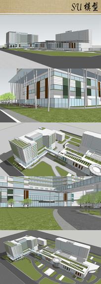 医院建筑设计su模型