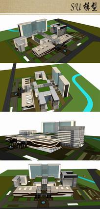 医院建筑su模型