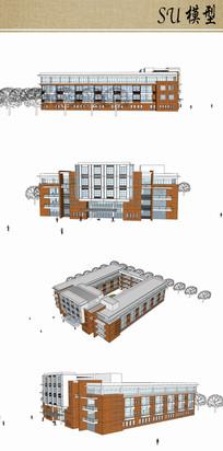 医院住院楼su模型