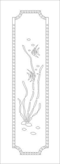 鱼水情雕刻图案