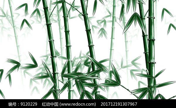 中国风竹子视频3D水墨工笔绿色视频初春图片