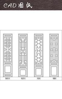 中式木门装饰 CAD