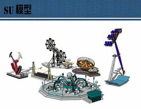 大型游乐设施su模型合集