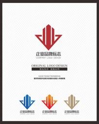 地产建筑企业时尚原创标志