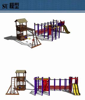 儿童游乐设施su小品模型