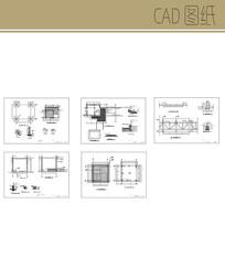 方形景观亭 CAD