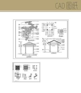 方形木质凉亭CAD