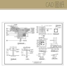 方形中式凉亭CAD