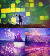 歌曲给自己的歌舞台背景视频