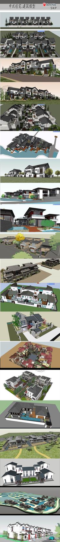 徽派中式建筑模型
