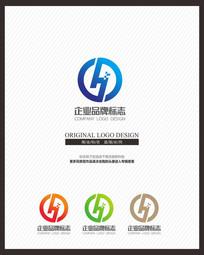 科技IT企业H商业标志设计