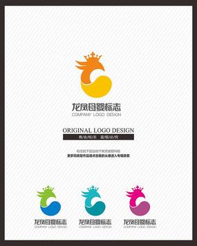 龙凤母婴品牌标志设计