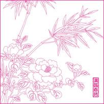 满园春色花纹雕刻图案