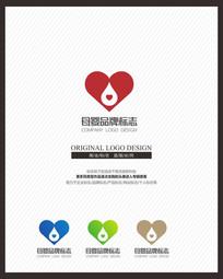 母婴品牌心形标志设计 CDR