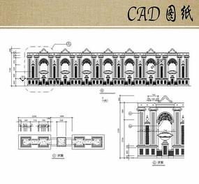欧式风格墙CAD
