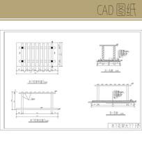 平行木花架大样图 CAD