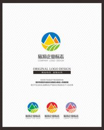 时尚多彩旅游旅行民宿标志设计