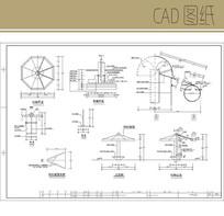 水帘亭施工图 CAD