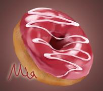 甜甜圈手绘素材食物插画