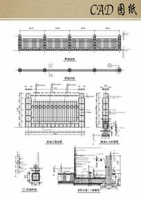小区围墙设计方案CAD dwg