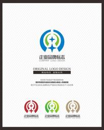 信息网络安全科技企业标志设计