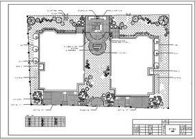 别墅休闲庭院景观CAD CAD