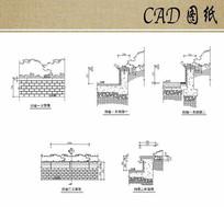 挡墙立剖面CAD dwg