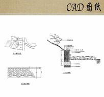 挡土墙平立剖面图CAD dwg