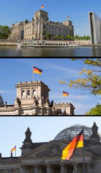 德国国会大厦实拍视频素材