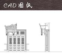 古典建筑入口大门CAD