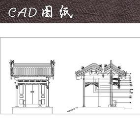 精美中式垂花门CAD