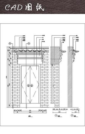 精美中式大门CAD