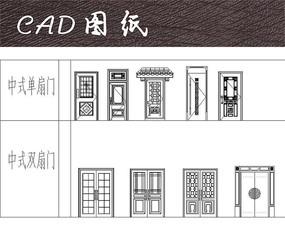 精美中式门CAD
