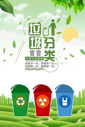 垃圾分类环保公益海报