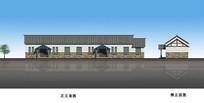 农村文化中心建筑立面图