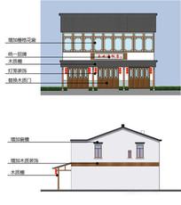 农家乐建筑立面图
