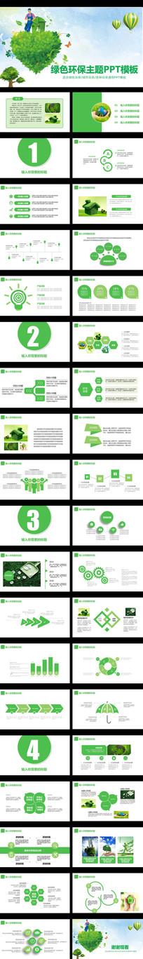 清新绿色环境保护PPT