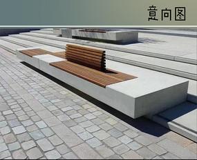 石木组合坐凳