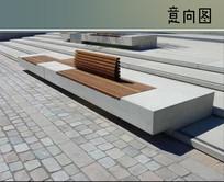 石木组合坐凳 JPG