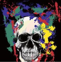 时尚涂鸦骷髅头图案