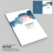 水墨电子移动通讯企业画册封面