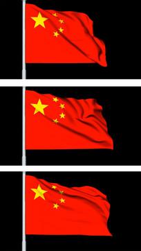 五星红旗飘扬视频素材